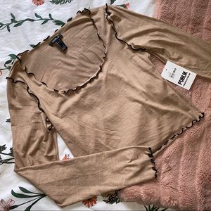 Forever 21 Nude Long Sleeve Top